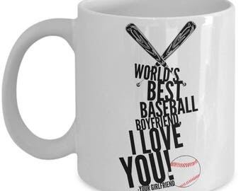 WORLD'S BEST Baseball Boyfriend! Coffee Mug
