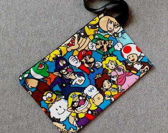 Pack Mario Character Wristlet Clutch Bag Purse