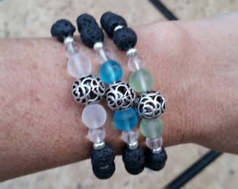Black Lava Beaded Bracelets