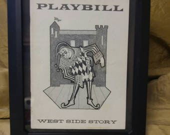 Rare Playbill Beautifully Illustrated 1957 Playbill of West Side Story