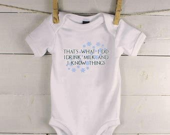 Game of Thrones Baby Gift - Game of Thrones Baby Shower - That's What I Do - Game of Thrones t-shirt