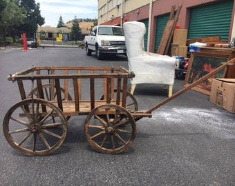 French Country Pull Cart Antique
