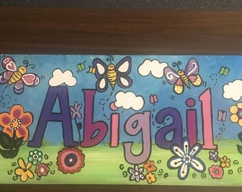 flowers and butterflies and baby name