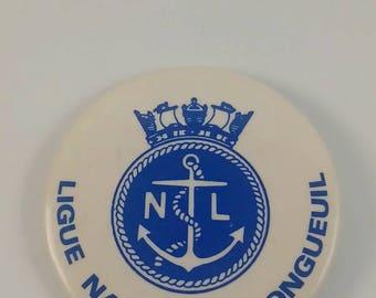 Vintage Longueuil pinback button