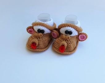 Funny Monkeys Handmade Baby Booties