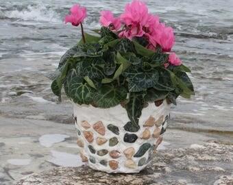 Colored striped vase