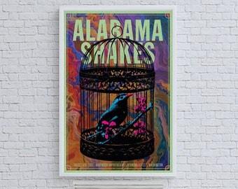 Alabama Shakes Bird Cage Band Poster Concert Ad