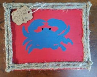 Blue Crab on Canvas