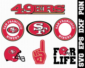 San Francisco 49ers Nfl,SVG File-png,eps,nfl svg,SVG File for Cameo,Cricut & other electronic cutters Silhouette Cut Files,Cricut Cut Files