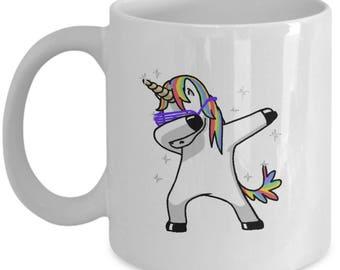 Unidab - Dabing Unicorn - Funny Gift - White Coffee Tea Mug - Funny gift Ceramic Cup