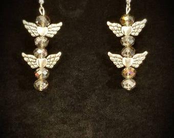 cute wing earrings