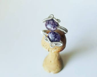 Lepidolite in Sterling Silver