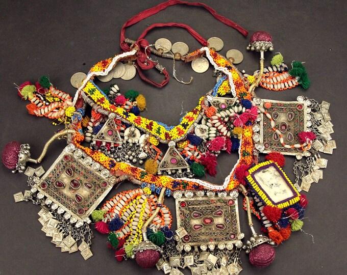 Afghan Tribal BELT Bellydance Dangles Turkoman 868h9