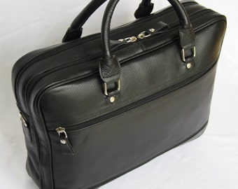 MJ Boss Leather Bag Handmade in Morocco,Black Color Leather Goods