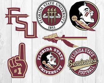 Florida State University SVG, Florida State University Files, FSU Logo, Football Printables, Vector Image, Silhouette Cricut, S-053