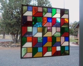 Stained Glass Quilt Etsy