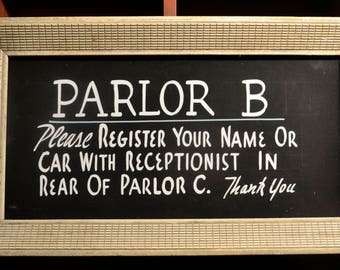 Funeral Home Parlor B Sign