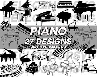 piano svg, music instrument svg, piano key svg, piano keyboard svg, clipart, stencil, decal, silhouette, cut files, iron on