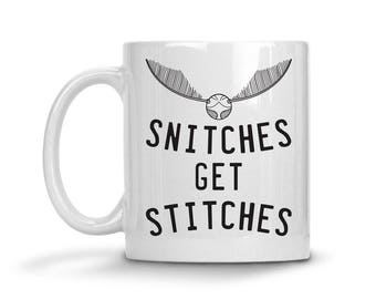 Harry Potter Snitches get stitches Ceramic Coffee Mug