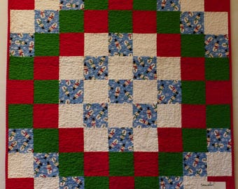 Christmas Snowman Baby Quilt #1