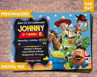 Toy Story Invitation, Toy Story Invites, Toy Story Birthday Invitation, Toy Story Card, Toy Story Party, Toy Story Birthday Party,Printables