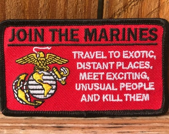 Vintage Join the Marines Patch