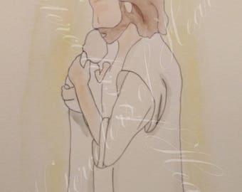 Christ and Child, Religious Artwork, Christ Artwork, Miscarriage or Stillbirth