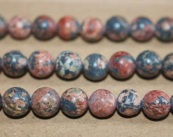 15 inches Full strand,Red Leopardskin Jasper smooth round beads 6mm 8mm 10mm 12mm,loose beads,semi-precious stone