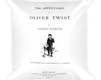 Oliver Twist book cover Square Pillow