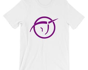 Invisible Pink Unicorn I.P.U. logo atheism Short-Sleeve Unisex T-Shirt