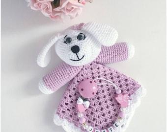 Amigurumi Puppy Dog Security Blanket Lovey Pdf Crochet Pattern