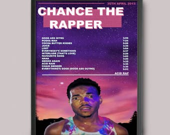 Chance The Rapper Acid Rap Custom Music Poster // A3 Album Art // Wall Art Poster Design