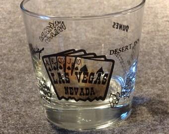 Las Vegas Souvenir Glass - MGM Grand - Stardust - Caesars Palace - Desert  Inn