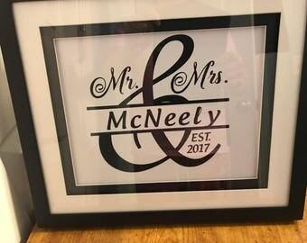 Wedding/Anniversary Frame