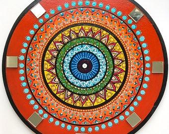 Mandala painting  Mandalas yoga art  Boho mandala art  Boho mandala gift  Gift for yoga mom  Bohemian wall art  Ethnic mandala art