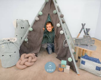 tipi enfants etsy fr. Black Bedroom Furniture Sets. Home Design Ideas