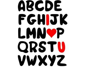 Valentine svg, alphabet svg, valentines day svg, love svg, heart svg, valentine t shirt, svg valentine, svg alphabet, svg valentines day,svg