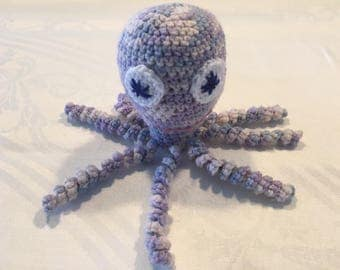 Crocheted Octopus Toy - Purple