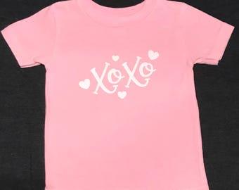 Toddler Girls XOXO Valentine Shirt