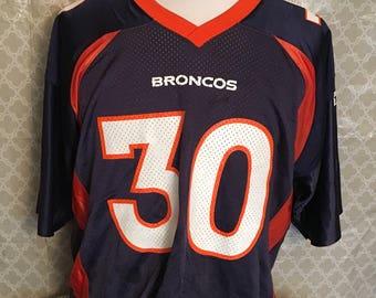 Vintage Terrell Davis Denver Broncos 1990 Starter NFL Football Jersey / vintage jersey / Broncos Jersey Size 52