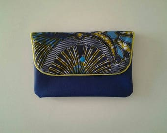 Faux leather clutch.