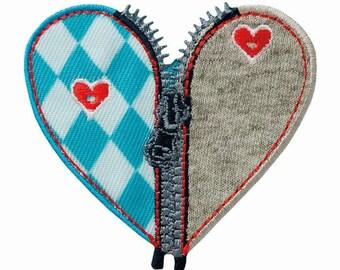 Costume Heart Bavarian October appliqué patch application #9448