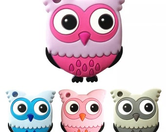 Silicone owl teether | Baby Teething Toy |Chewing Teether | Teething Accessories | Soothing Toy | BPA Free | Silicone Teethers |