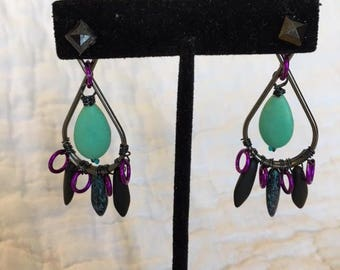 Mint Turquoise earring jackets