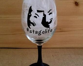 Stagelife, Gittered Wine Glass, Custom Glasses