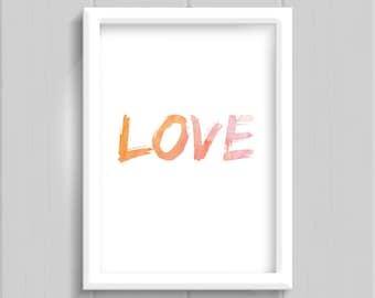 Love, decor printable quote art