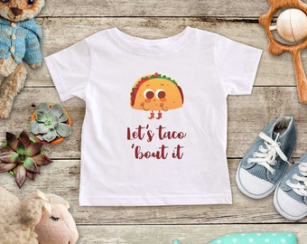 Let's Taco 'bout it - funny Mexican food cute baby bodysuit baby shower gift - Made in USA - toddler kids youth shirt