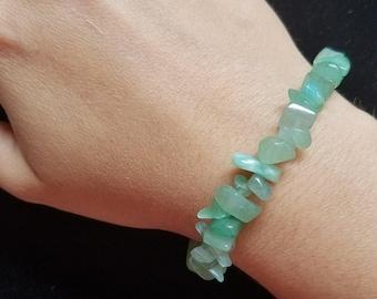 Green Aventurine Gemstone Bracelet- Green Aventurine Crystal Healing Bracelet- Heart Chakra Healing Bracelet
