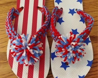 "Old Navy ""RED, WHITE and BLUE"" Flip Flops"