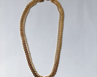 Golden two layer necklace